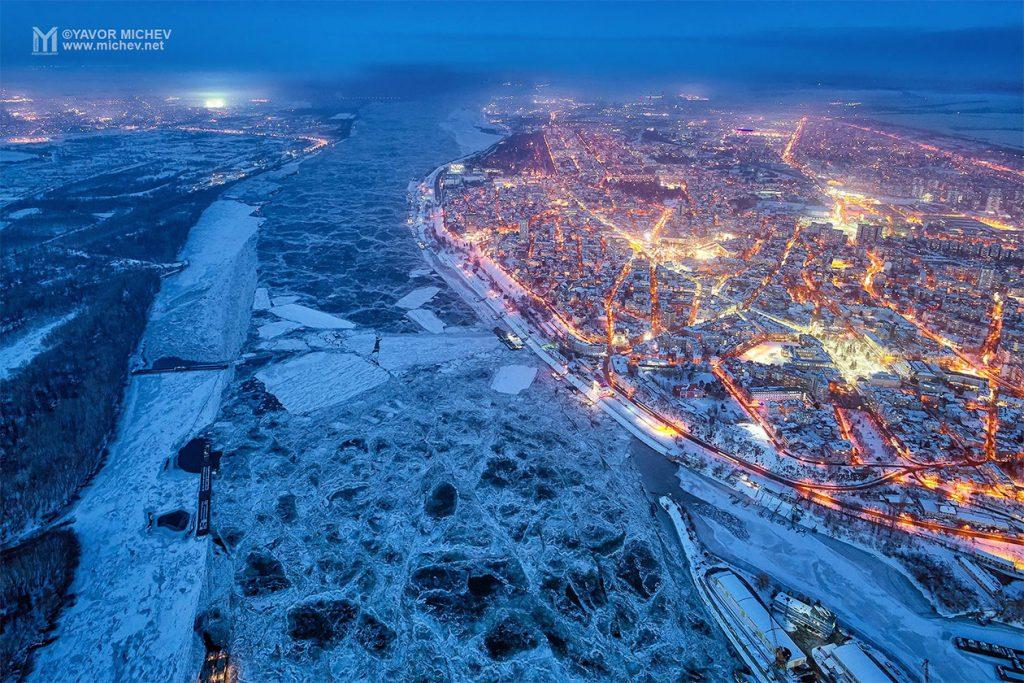 हिवाळी एरियल फोटोग्राफी