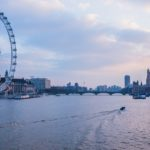 लंडन डोळा आणि नदी