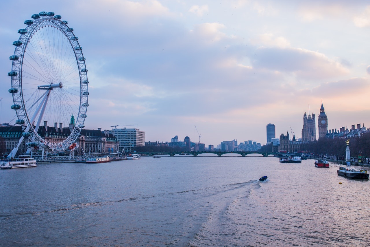 London eye and river